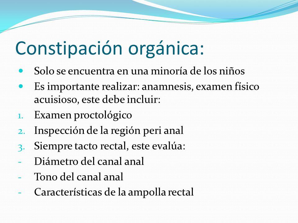 Constipación orgánica:
