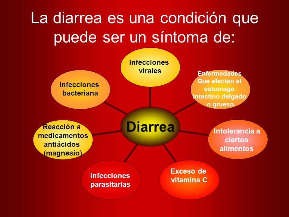 La diarrea es una condición que puede ser un síntoma de: