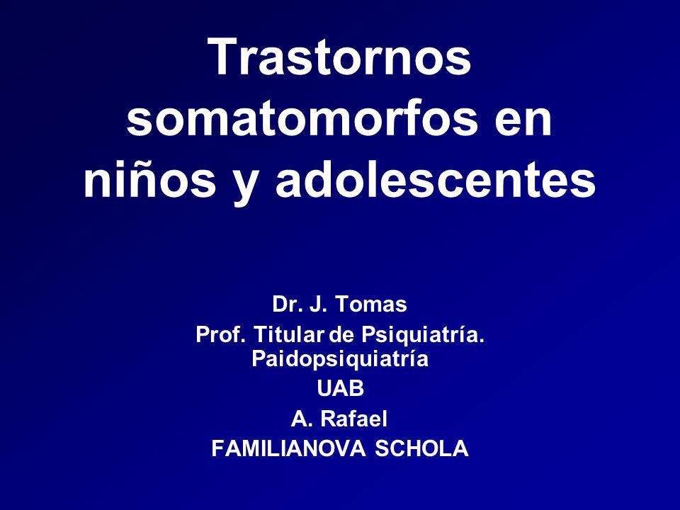 Trastornos somatomorfos en niños y adolescentes