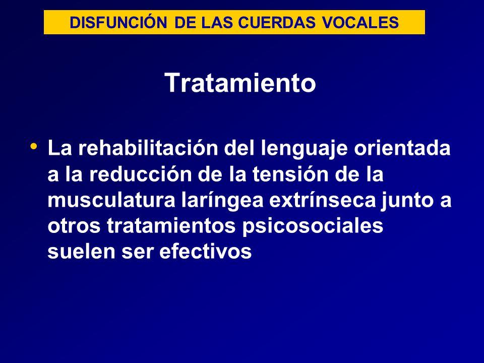 DISFUNCIÓN DE LAS CUERDAS VOCALES
