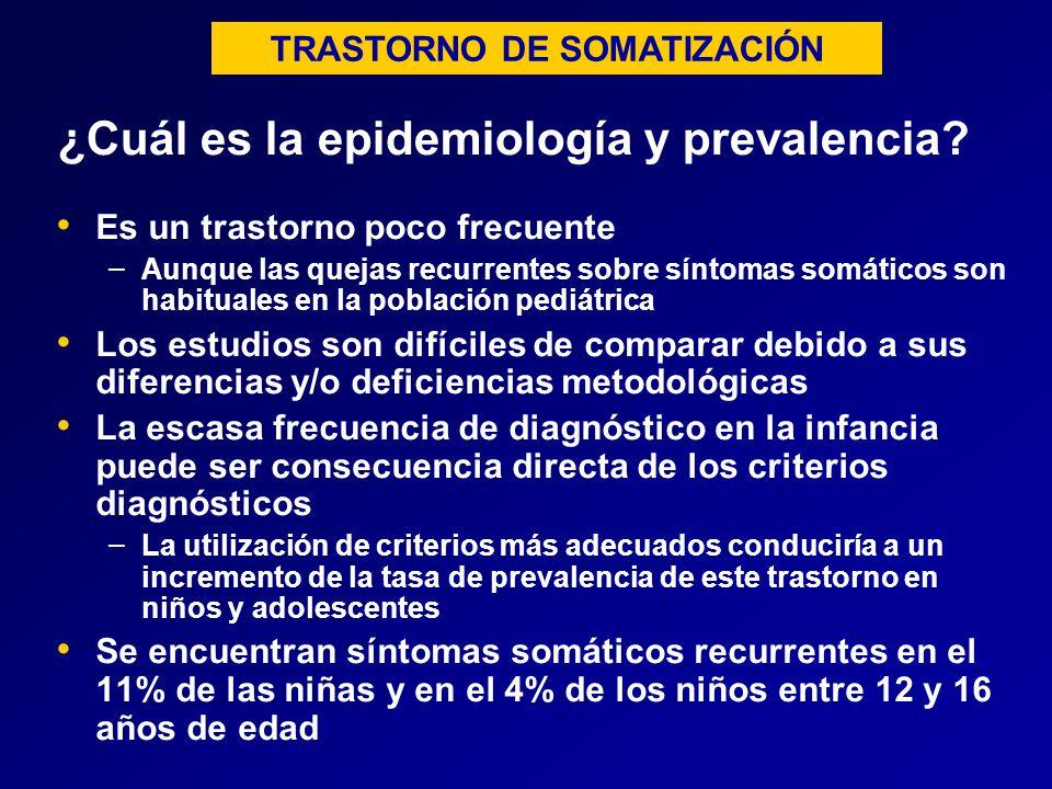 ¿Cuál es la epidemiología y prevalencia