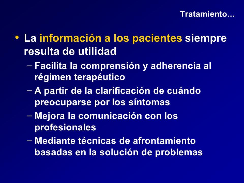 La información a los pacientes siempre resulta de utilidad