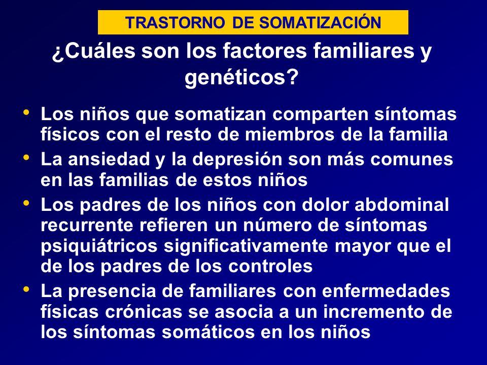 ¿Cuáles son los factores familiares y genéticos