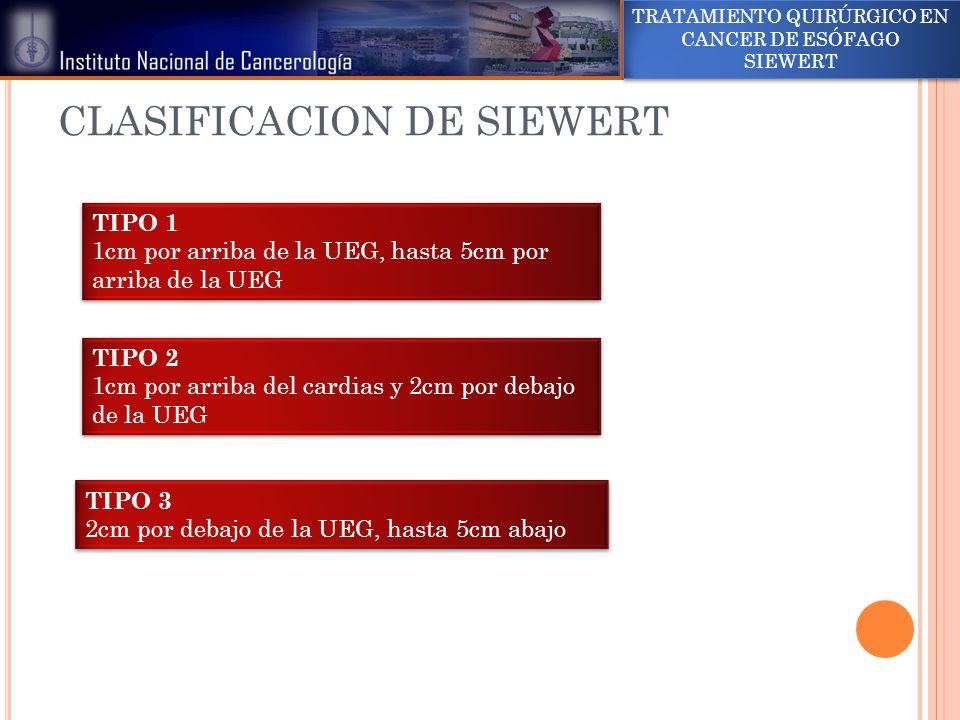 CLASIFICACION DE SIEWERT