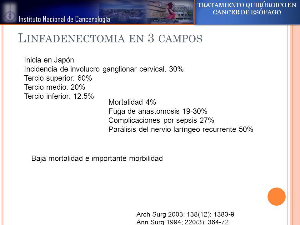 Linfadenectomia en 3 campos