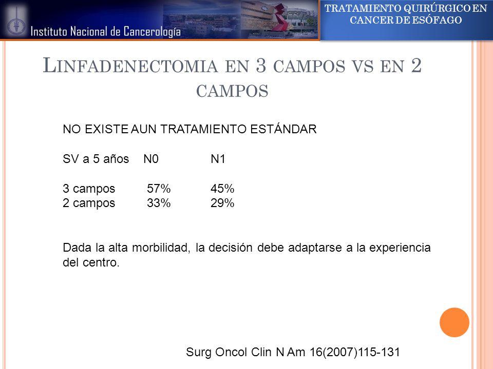 Linfadenectomia en 3 campos vs en 2 campos