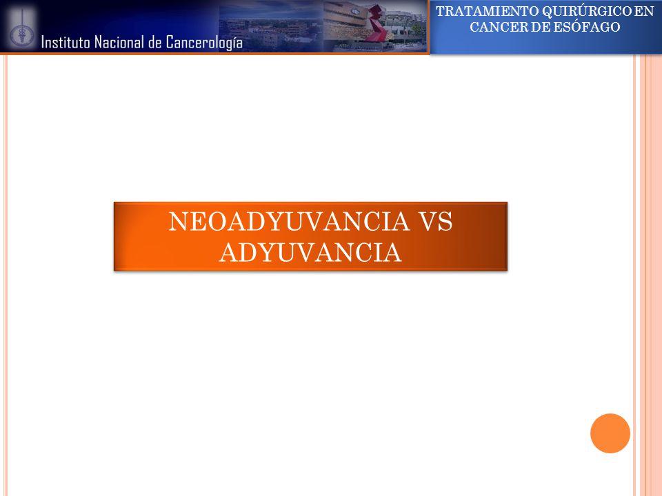 NEOADYUVANCIA VS ADYUVANCIA