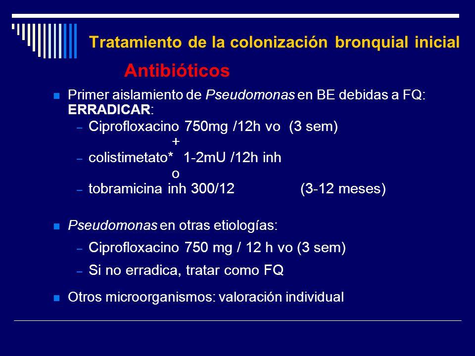 Tratamiento de la colonización bronquial inicial