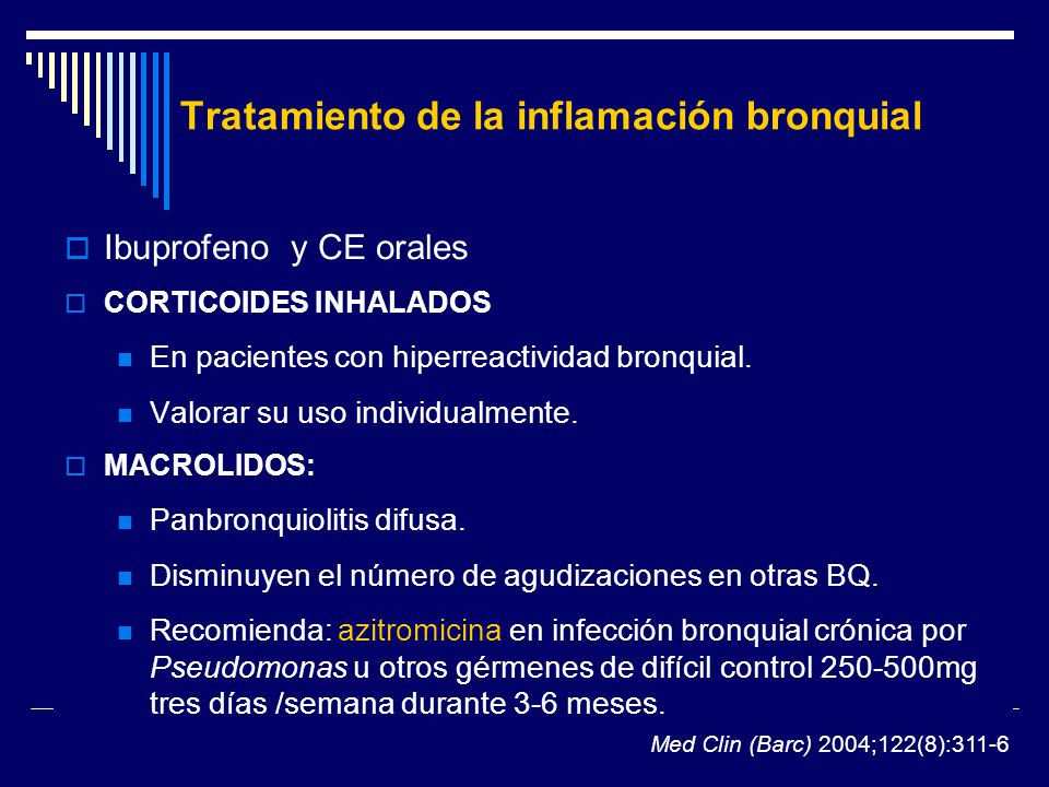 Tratamiento de la inflamación bronquial