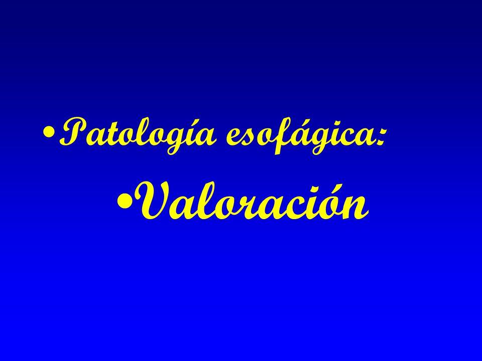 Patología esofágica: Valoración