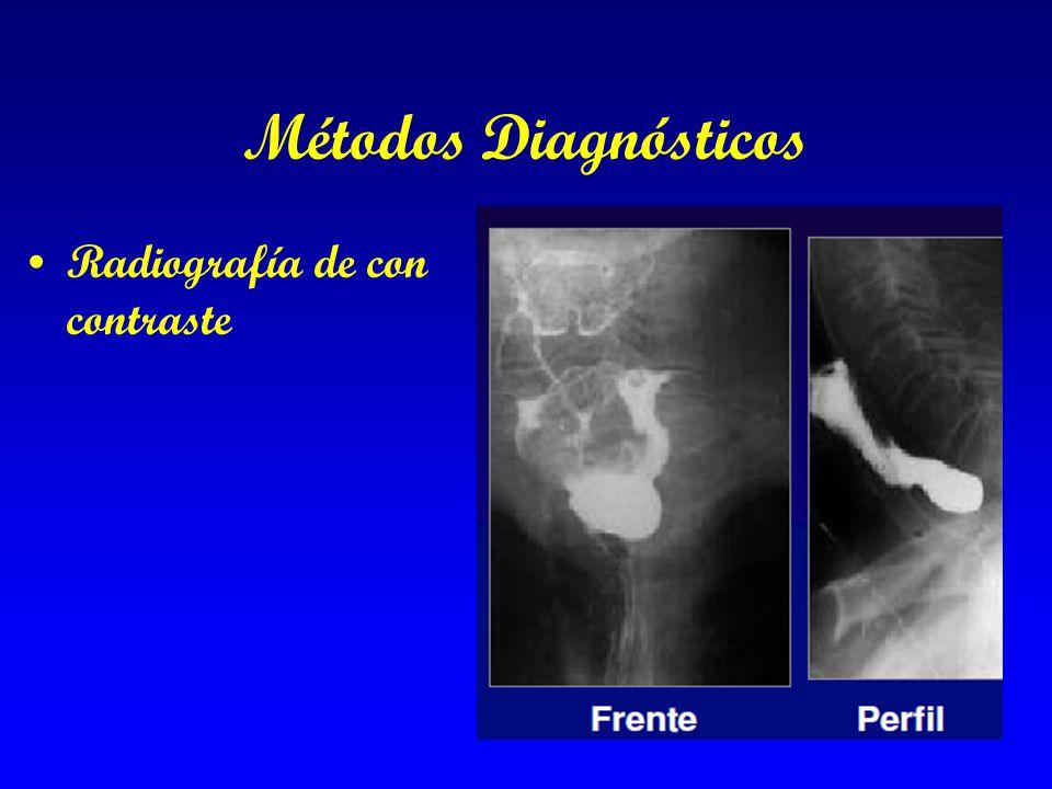 Métodos Diagnósticos Radiografía de con contraste