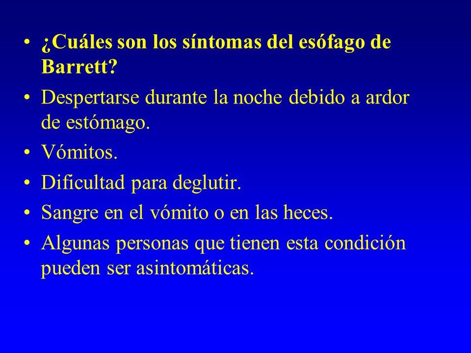 ¿Cuáles son los síntomas del esófago de Barrett