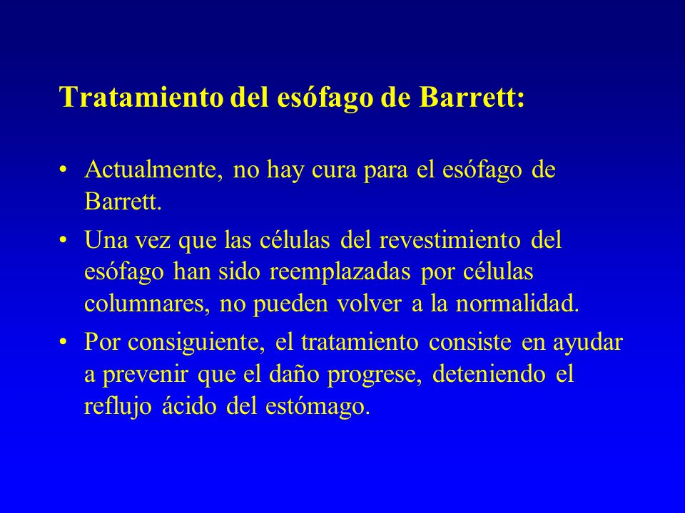 Tratamiento del esófago de Barrett: