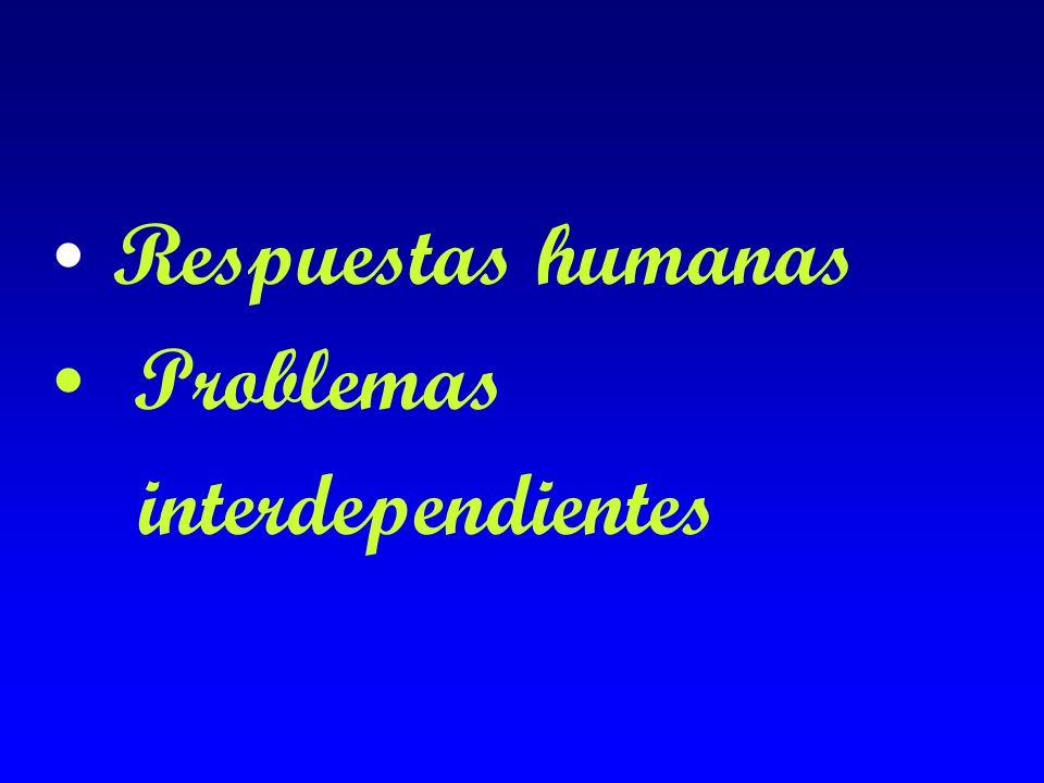 Respuestas humanas Problemas interdependientes