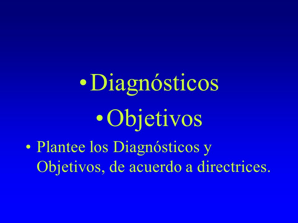 Diagnósticos Objetivos