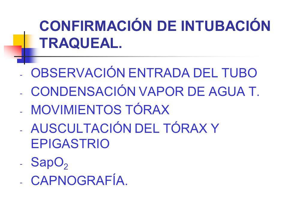 CONFIRMACIÓN DE INTUBACIÓN TRAQUEAL.