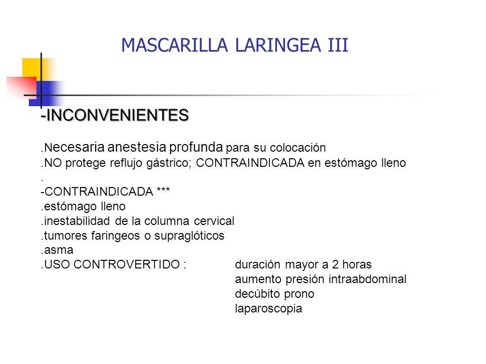 MASCARILLA LARINGEA III
