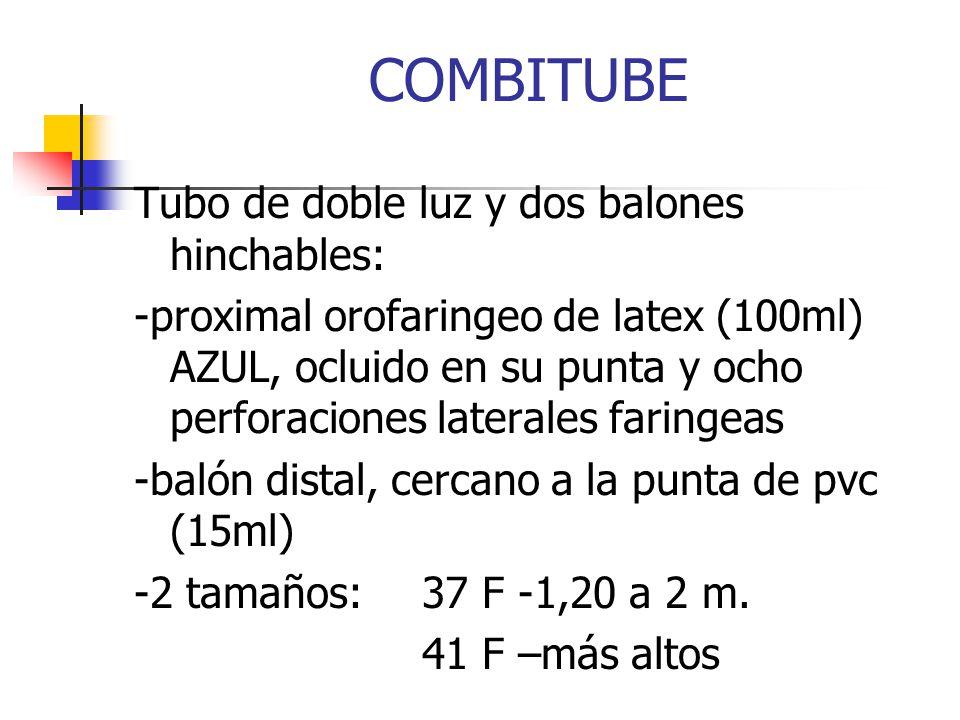 COMBITUBE Tubo de doble luz y dos balones hinchables: