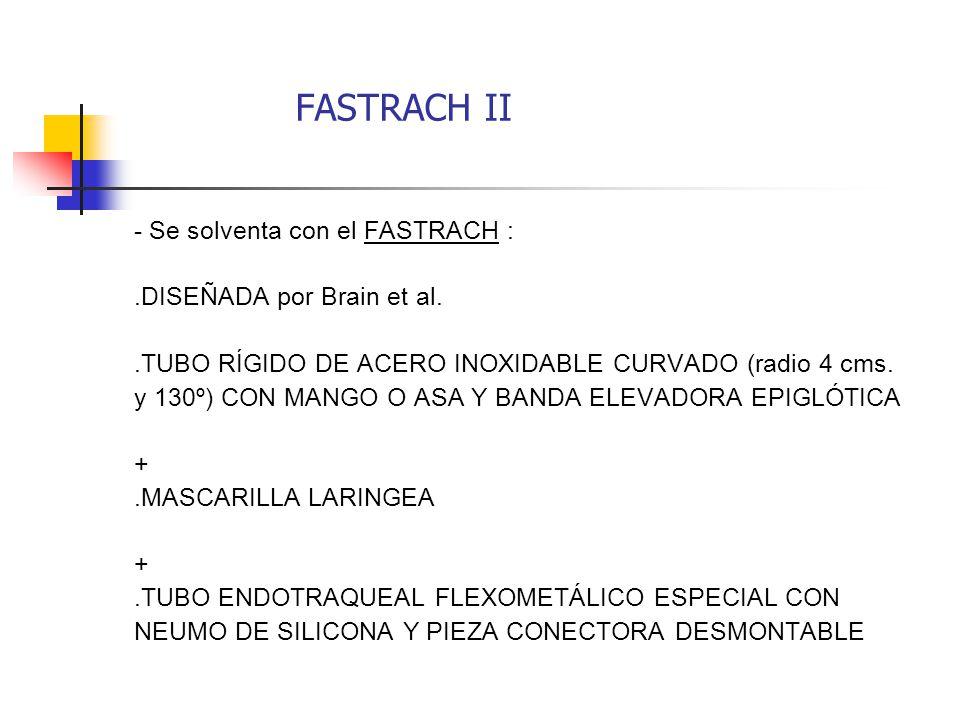 FASTRACH II - Se solventa con el FASTRACH : .DISEÑADA por Brain et al.