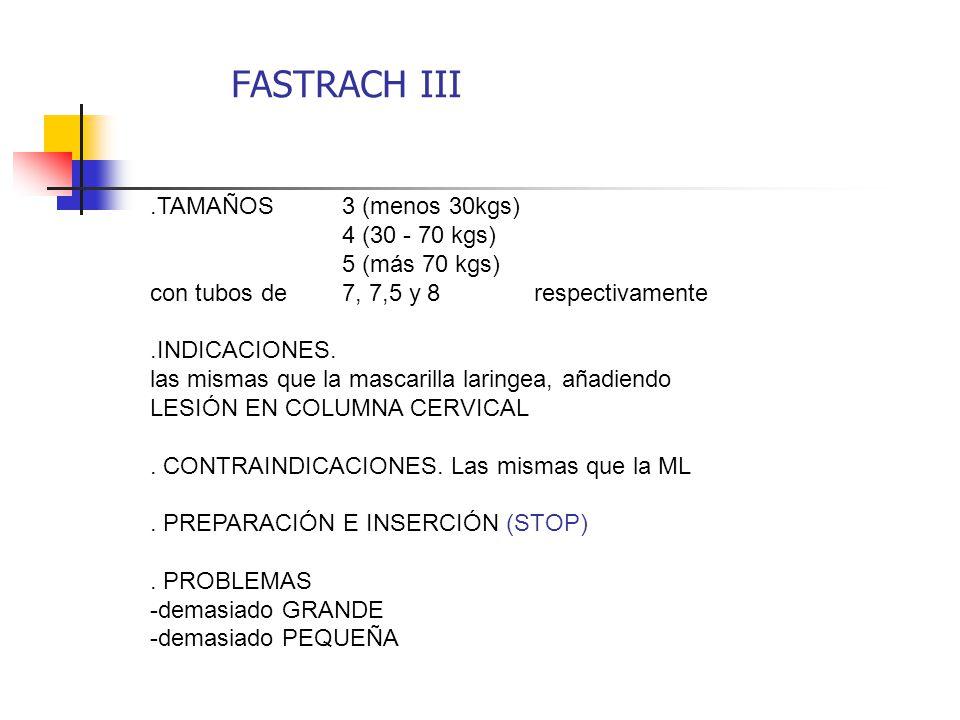 FASTRACH III .TAMAÑOS 3 (menos 30kgs) 4 (30 - 70 kgs) 5 (más 70 kgs)