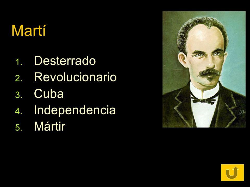 Martí Desterrado Revolucionario Cuba Independencia Mártir