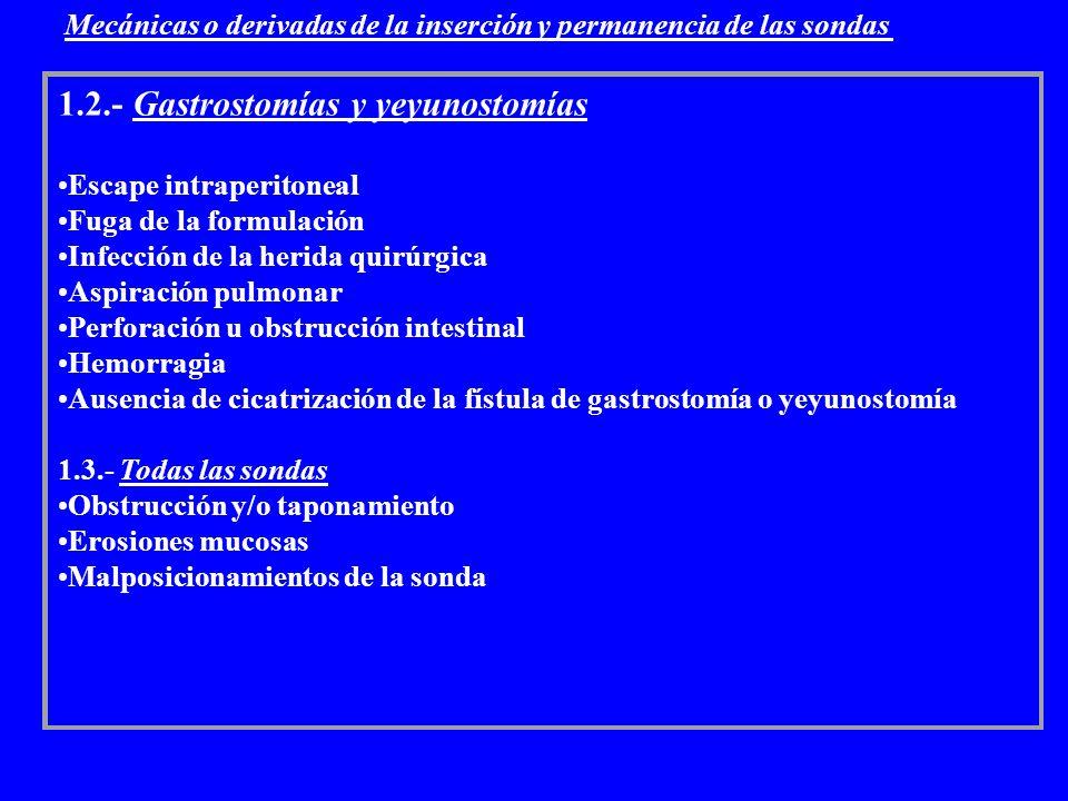 1.2.- Gastrostomías y yeyunostomías