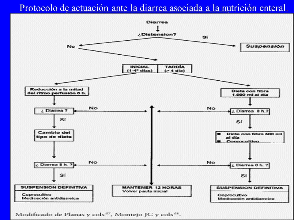 Protocolo de actuación ante la diarrea asociada a la nutrición enteral.