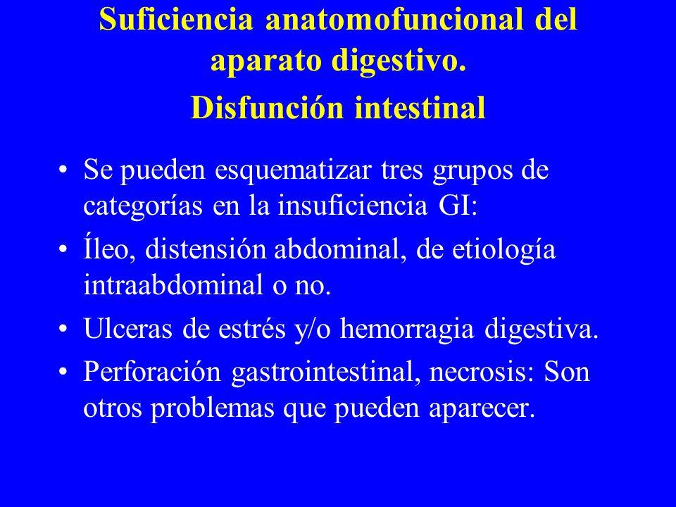 Suficiencia anatomofuncional del aparato digestivo