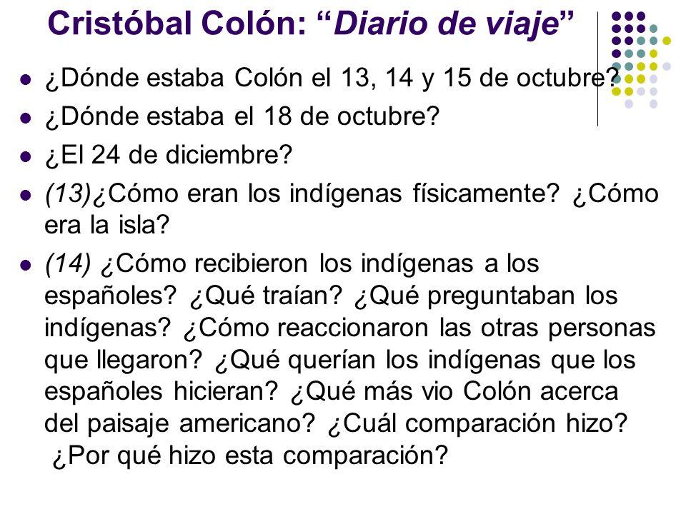 Cristóbal Colón: Diario de viaje
