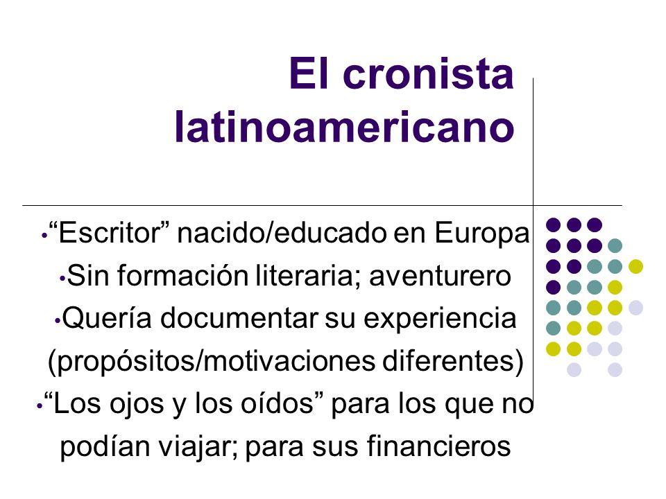 El cronista latinoamericano