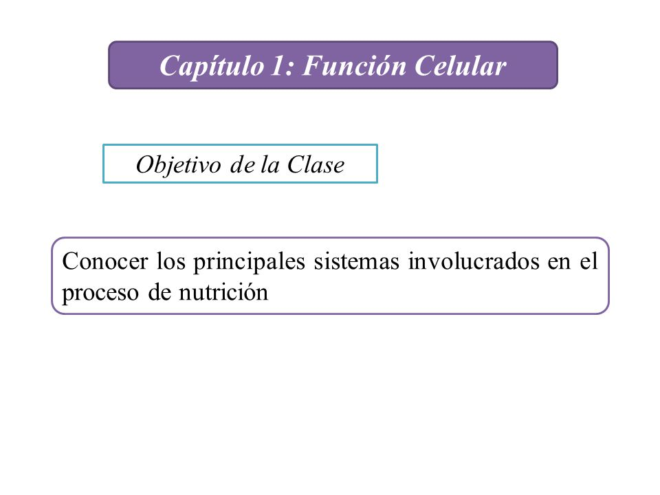 Capítulo 1: Función Celular