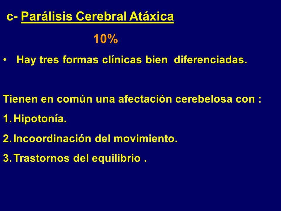 c- Parálisis Cerebral Atáxica 10%