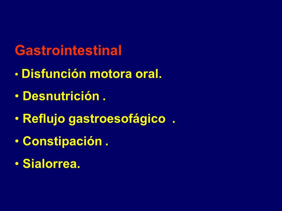 Gastrointestinal Desnutrición . Reflujo gastroesofágico .