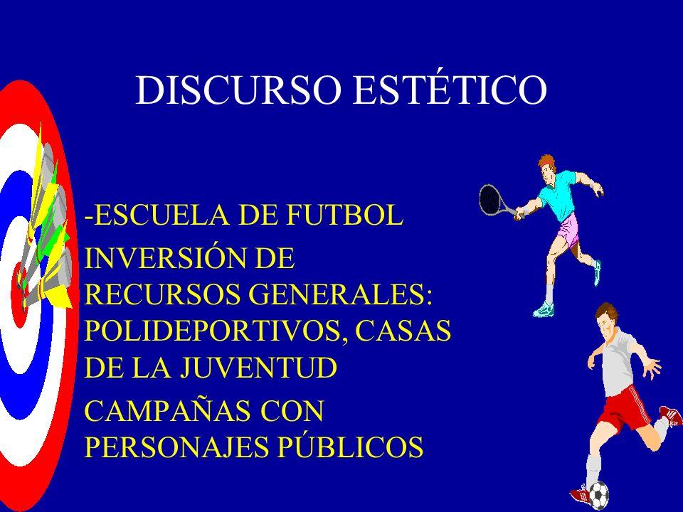 DISCURSO ESTÉTICO -ESCUELA DE FUTBOL