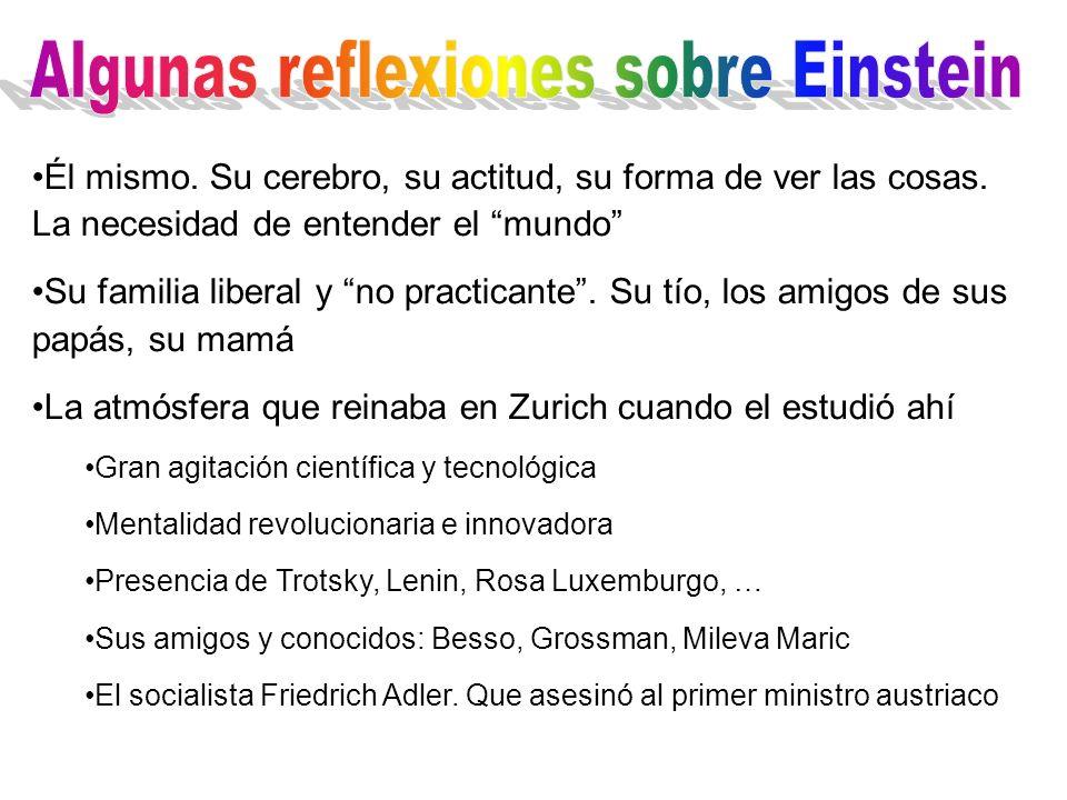 Algunas reflexiones sobre Einstein