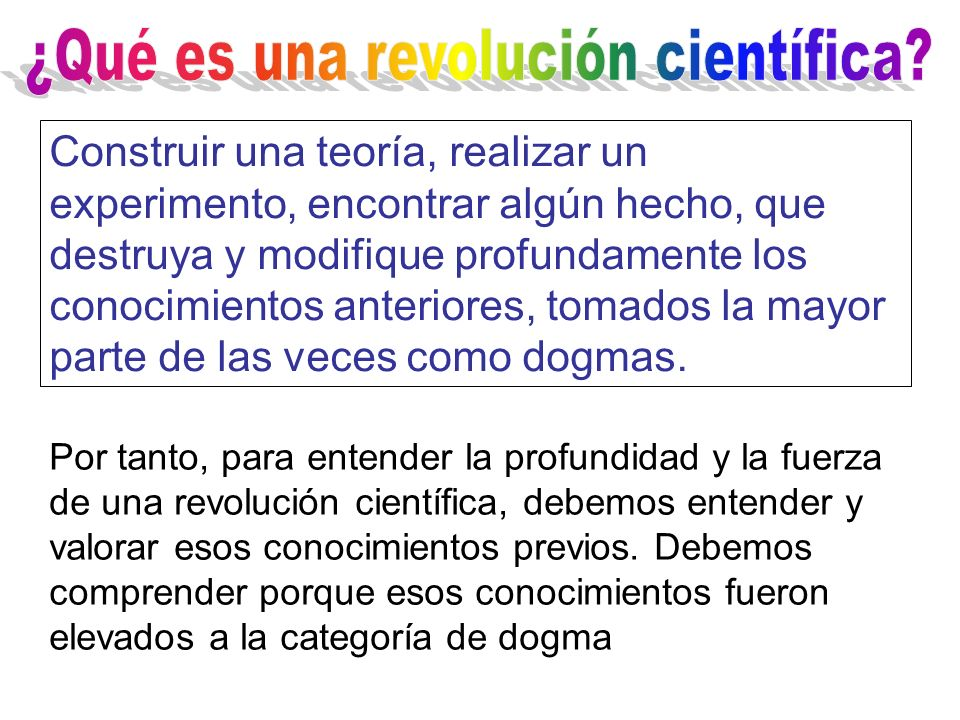 ¿Qué es una revolución científica