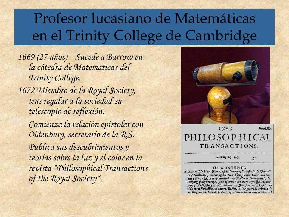 Profesor lucasiano de Matemáticas en el Trinity College de Cambridge