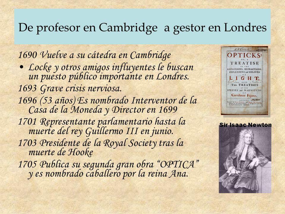 De profesor en Cambridge a gestor en Londres