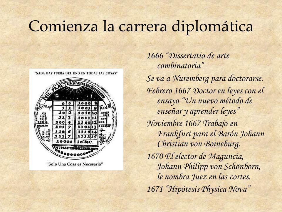 Comienza la carrera diplomática