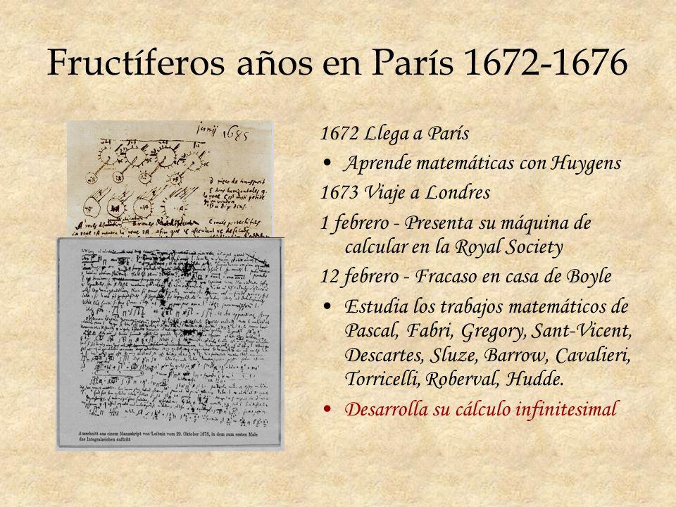 Fructíferos años en París 1672-1676