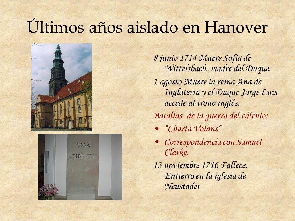 Últimos años aislado en Hanover