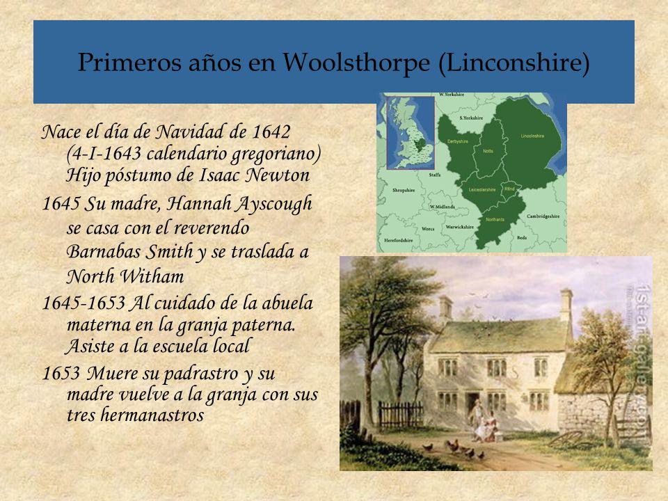 Primeros años en Woolsthorpe (Linconshire)