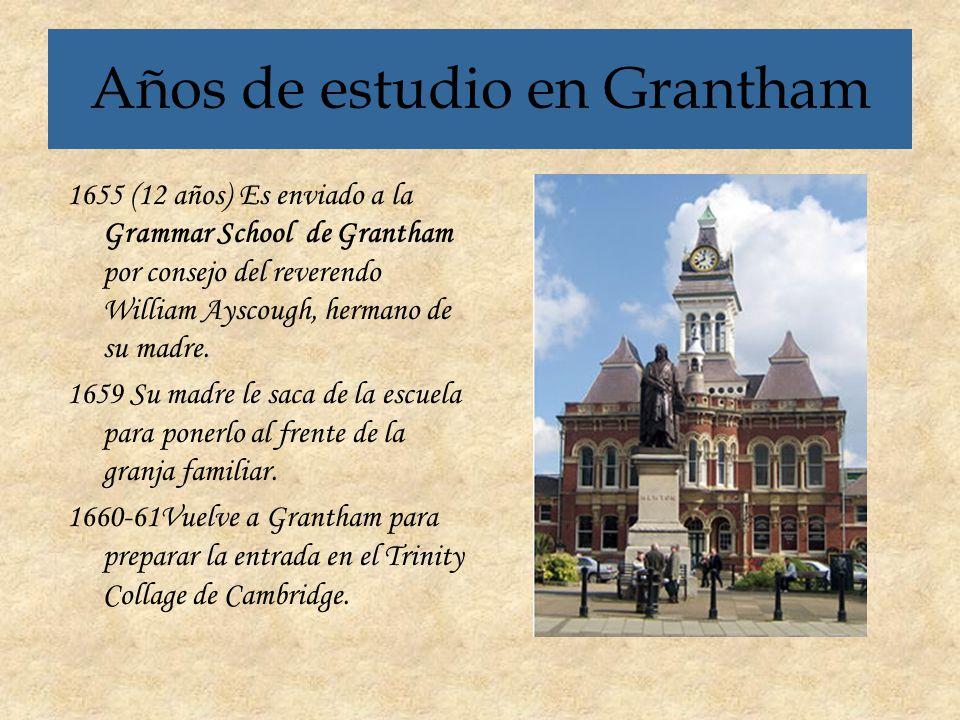 Años de estudio en Grantham
