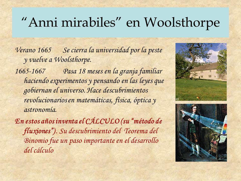 Anni mirabiles en Woolsthorpe