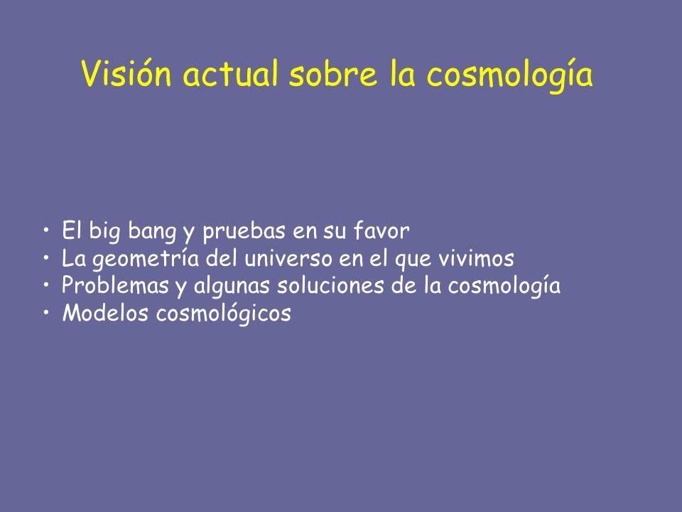 Visión actual sobre la cosmología