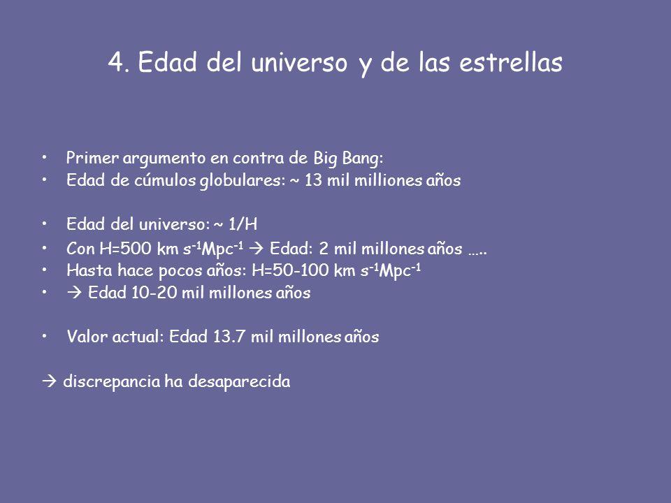 4. Edad del universo y de las estrellas