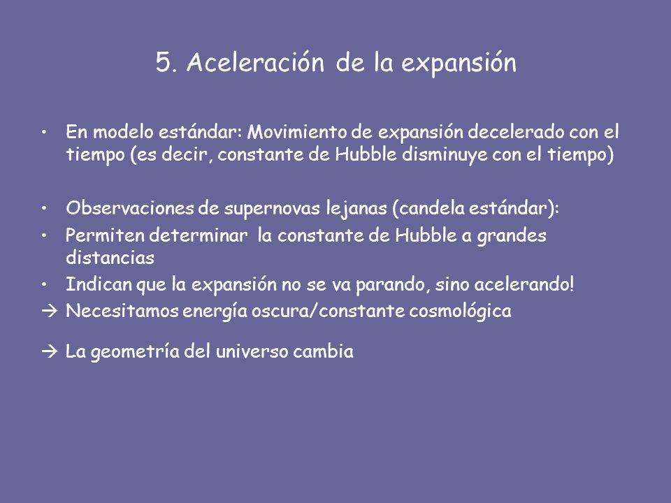 5. Aceleración de la expansión