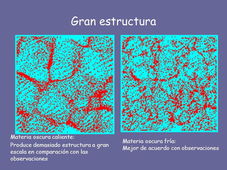 Gran estructura Materia oscura caliente: