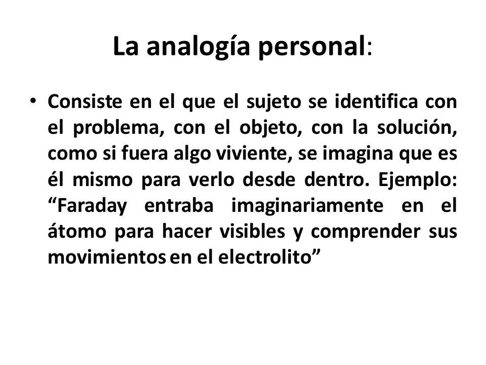 La analogía personal: