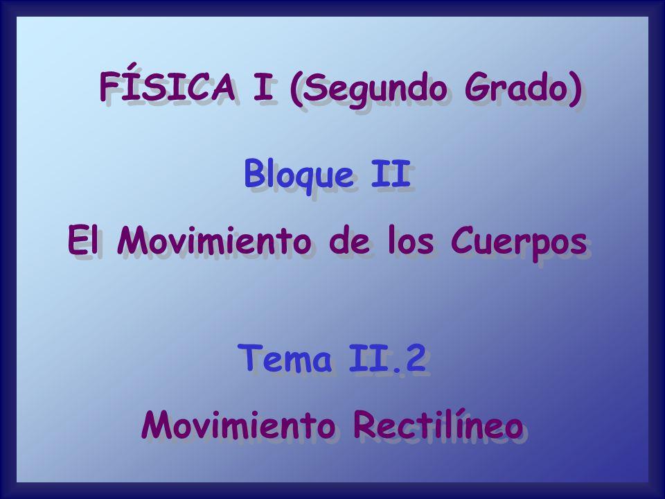 FÍSICA I (Segundo Grado)